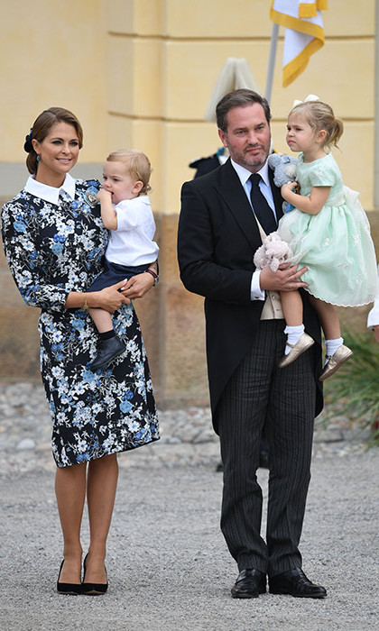 Princess Madeleine looked chic in a floral Erdem dress.