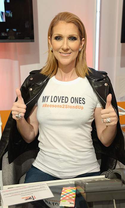 Céline Dion delivers emotional performance for Stand Up to Cancer.