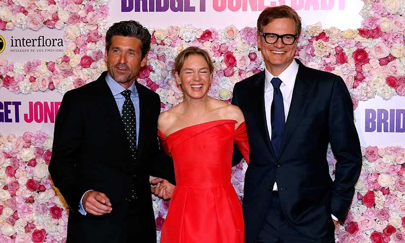 Patrick Dempsey, Renée Zellweger and Colin Firth were all smiles at the Paris premiere of <i>Bridget Jones's Baby.</i> The hotly anticipated comedy hits theatres on Sept. 16. 