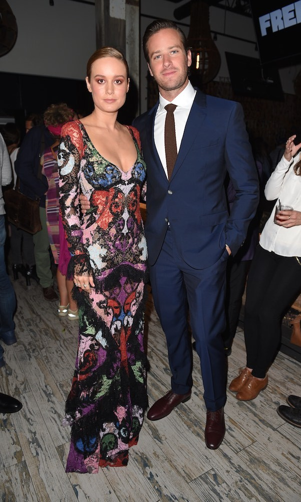 Brie Larson and Armie Hammer were the guests of honour at a pre-screening shindig celebrating their new film <em>Free Fire</em>.