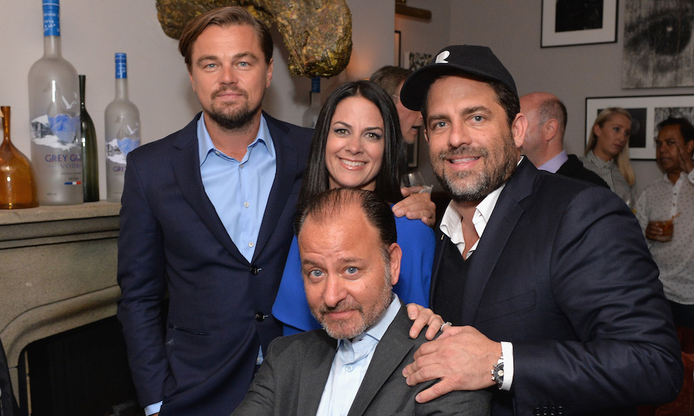 Leonardo DiCaprio toasted his first trip to TIFF with his new documentary <em>Before the Flood</em> alongside director Fisher Stevens and producer Brett Ratner at Grey Goose Soho House.
