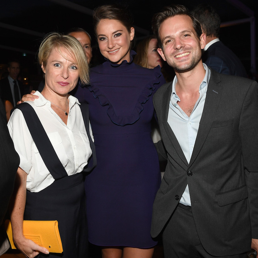 Shailene Woodley mingled with guests at the <em>Snowden</em> pre party at pool bar Lavelle, hosted by Audi and Nespresso.  