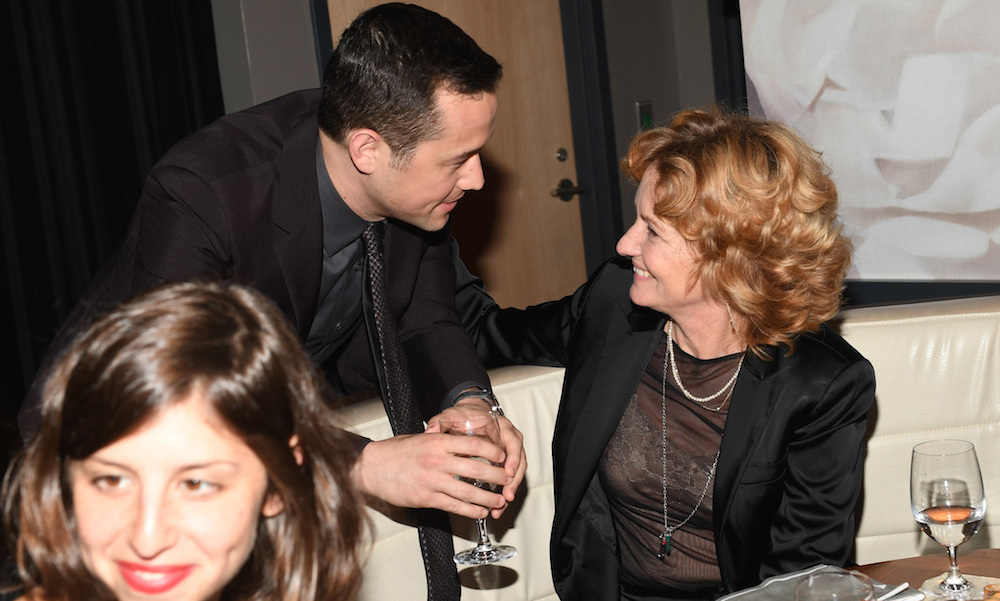 Joseph Gordon-Levitt and co-star Melissa Leo enjoyed a drink at Levalle before the <em>Snowden</em> red carpet.