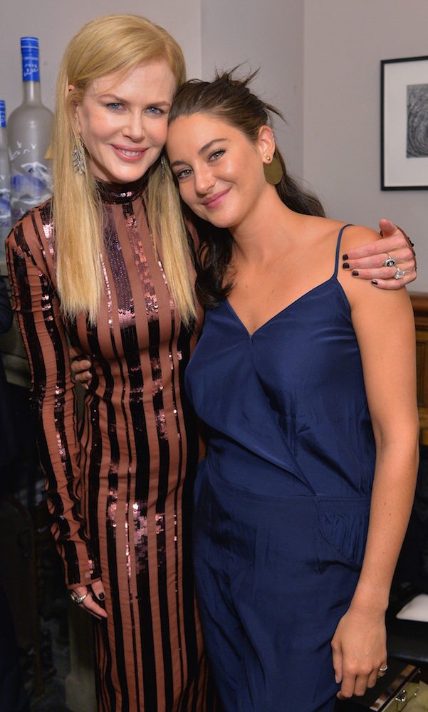 Nicole Kidman and Shailene Woodley, who star together in upcoming film <em>Big Little Lies</em>, caught up at the Soho House party for <em>Lion</em>.