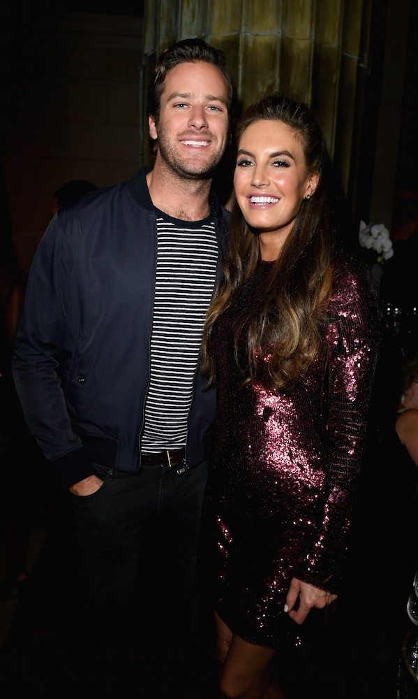 Armie Hammer stopped by the InStyle party with his pregnant wife Elizabeth Chambers.