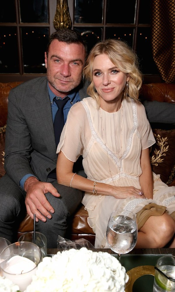 Power couple Liev Schreiber and Naomi Watts, who co-star in <em>The Bleeder</em>, cuddled up on a couch at the InStyle party.