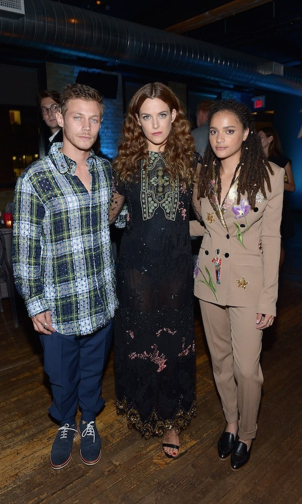 McCaul Lombardi, Riley Keough and Sasha Lane toasted <em>American Honey</em> at the Variety x Holt Renfrew dinner at The Spoke Club.