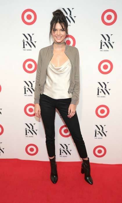Kendall Jenner showed up in style to the Target + IMG New York Fashion Week Kick-Off Event at The Park at Moynihan Station.