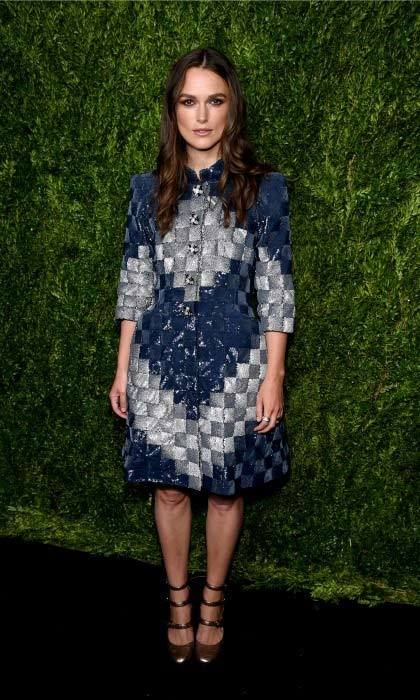 Keira Knightley was the lady of the hour at the CHANEL Fine Jewellery dinner in her honor at The Jewel Box, Bergdorf Goodman.