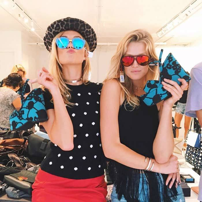 Shopping in between shows! Karlie Kloss and Toni Garrn hit up the Supermodel Flea Market, which benefits Toni's Foundation. 