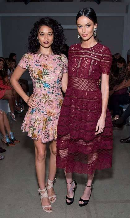 HFM cover girl Shanina Shaik and Nicole Trunfio watched the Zimmermann show from the front row.