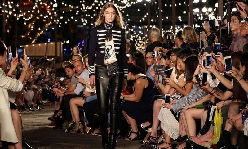 Gigi not only walked the runway during Tommy Hilfiger, she helped design the collection.