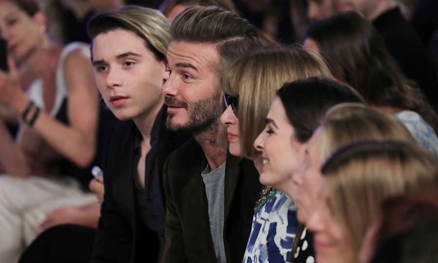 The fashion designer was supported by her husband David Beckham and their eldest son Brooklyn, who sat front row alongside Anna Wintour.