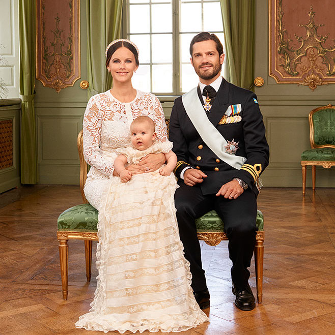 Prince Alexander of Sweden with his parents Princess Sofia and Prince Carl Philip.