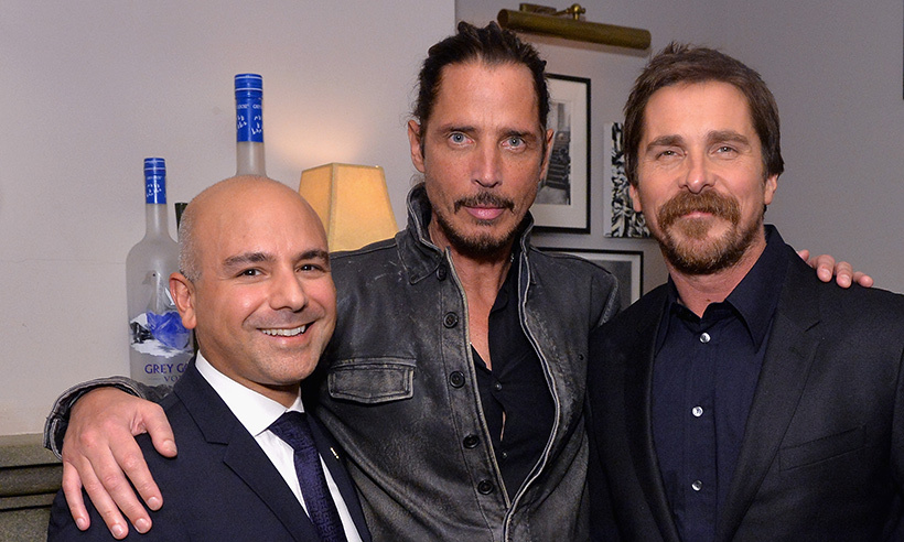 Eric Esrailian, Chris Cornell and Christian Bale