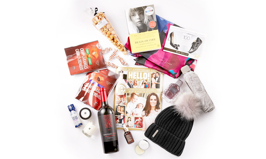 The contents of our luxe VIP gift bags!