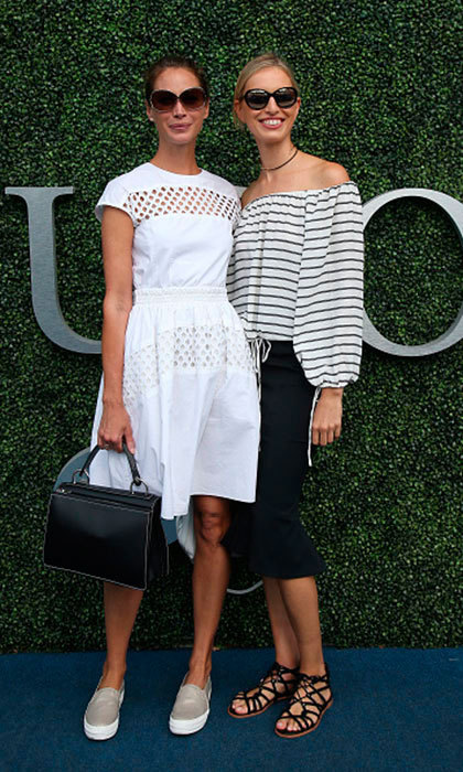 Christy Turlington and Karolina Kurkova arrived in style for the women's final at Arthur Ashe Stadium on day 13 of the 2016 US Open at USTA Billie Jean King National Tennis Center in NYC. 