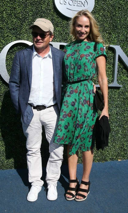 Michael J. Fox and Tracy Pollan attended the men's final.