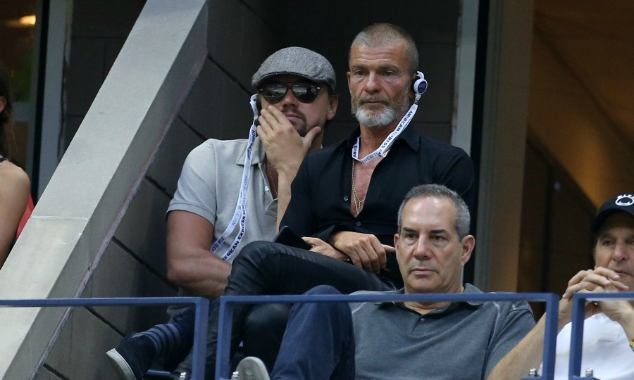 Leonardo DiCaprio took in some tennis while relatively incognito in a hat and sunglasses.