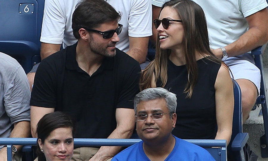 Hilary Swank enjoyed the women's final match and her company. 
