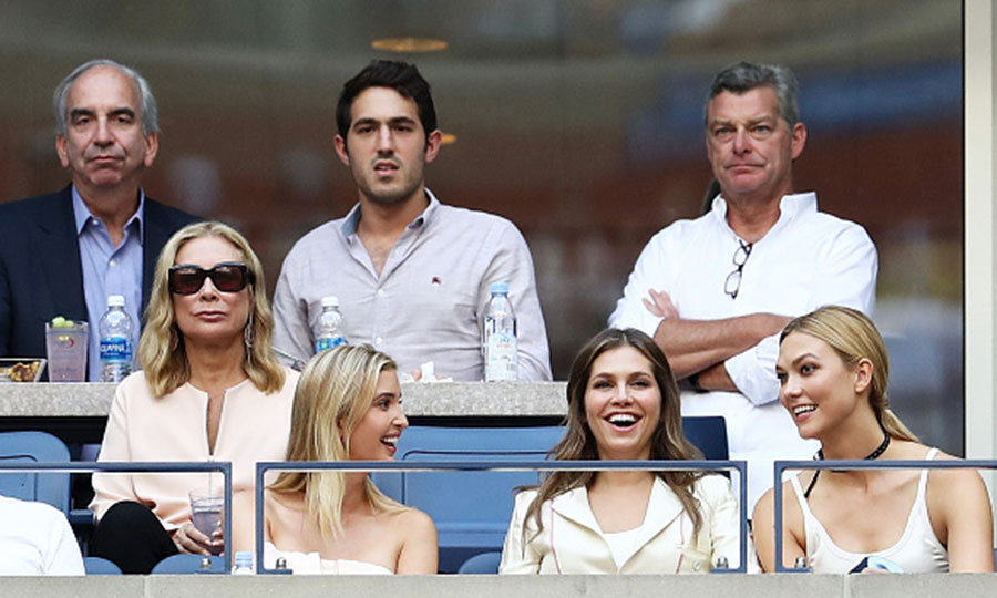 Ivanka Trump shared a laugh with Dasha Zhukova and Karlie Kloss during the Men's Singles Final match between Novak Djokovic of Serbia and Stan Wawrinka. 
