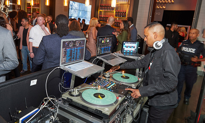 DJ Clymaxxx spun tunes by Justin Bieber, Beyoncé and more in the Lobby Bar.