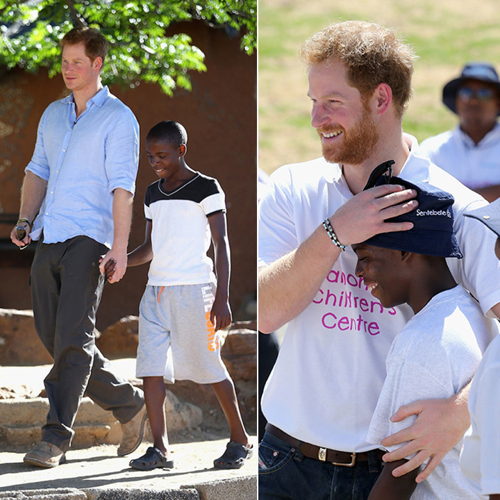 In November 2015, Prince Harry reunited with a long-time friend during his visit to Lesotho. The royal visited with teenager Mutsu Potsane, whom he initially met during his first trip to the region in 2004 (L). The pair caught up at the opening of the new Mahamato's Children's Centre.