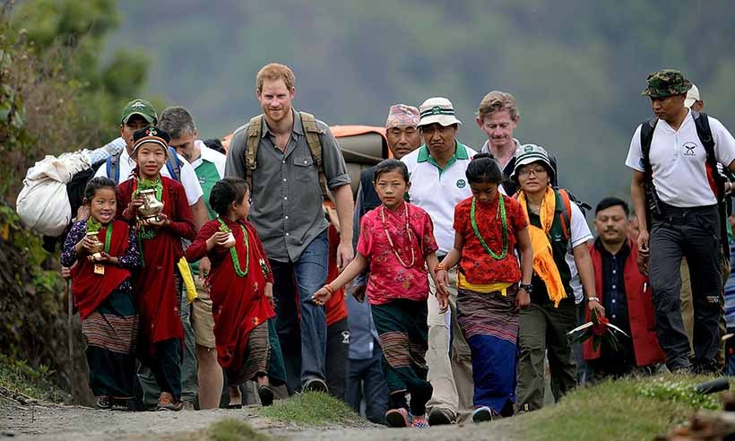 In March 2016, Prince Harry stayed overnight in a local homestay in Leorani before watching a cultural show in Nepal. 