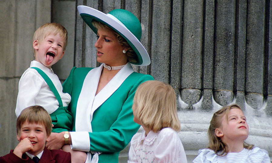The youngster took his mother Princess Diana by surprise when he stuck out his tongue at the Queen's official birthday, Trooping The Colour, on the balcony of Buckingham Palace.