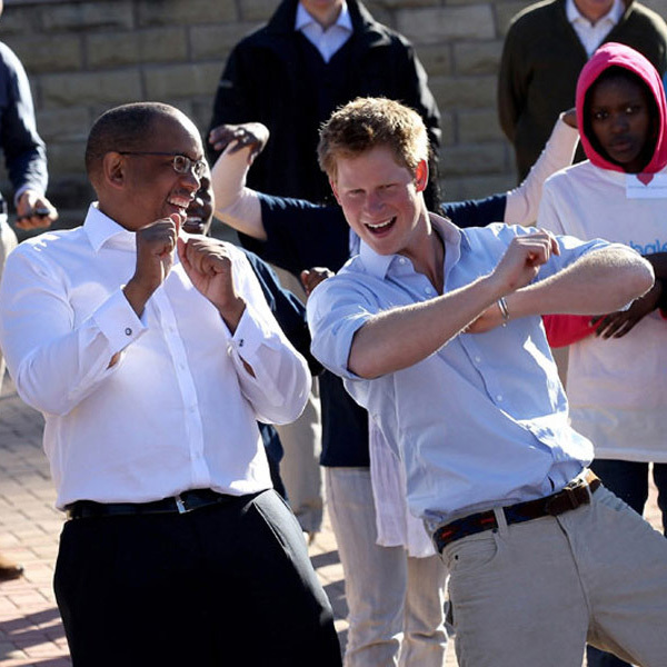 """I am who I am. I'm always going to have that little sort of - how do you say? Child streak,"" Harry, seen here at a charity event with Prince Seeiso of Lesotho, once said."