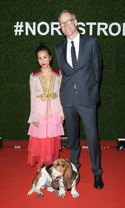 Olivia Kim,Dean the Basset and Pete Nordstrom
