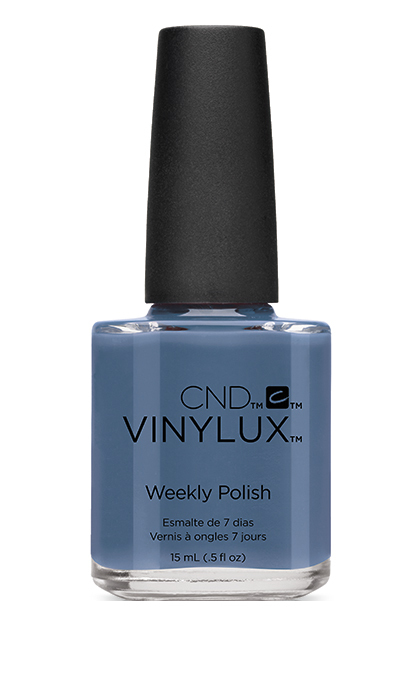 "<strong>CND Vinylux Weekly Polish in Denim Patch from the Craft Culture Collection, $13, at Trade Secrets, Chatters and <a href=""http://www.cnd.com"" target=""_blank"">CND.com</a></strong>"