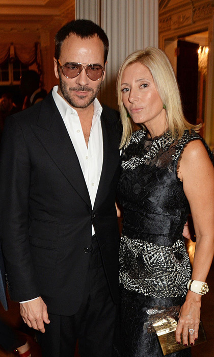 Princess Marie-Chantal of Greece celebrated London Fashion Week with designer Tom Ford at the Winfield House in 2014.