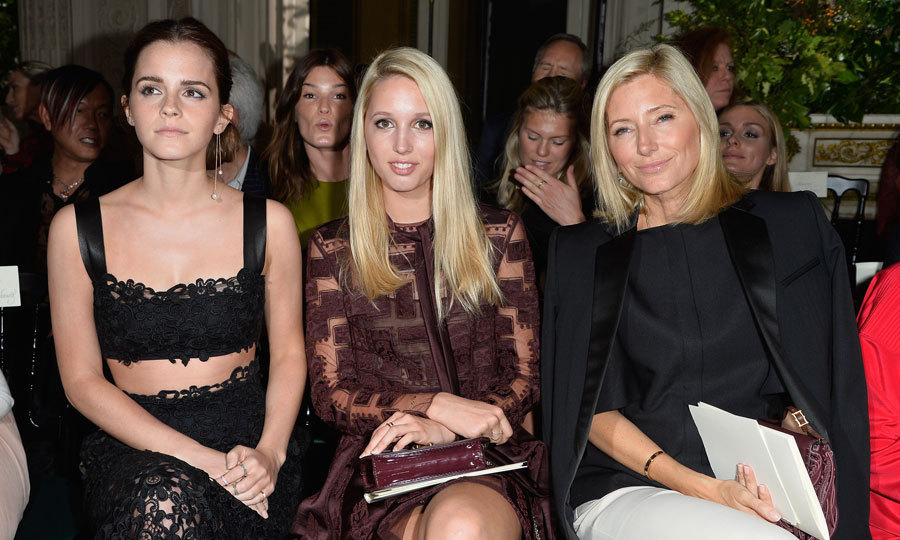 Fashionable mother-daughter pair Princess Marie-Chantal and Princess Olympia of Greece were joined by actress Emma Watson in the front row of the Valentino show during Paris Fashion Week - Haute Couture Fall/Winter 2014-2015.