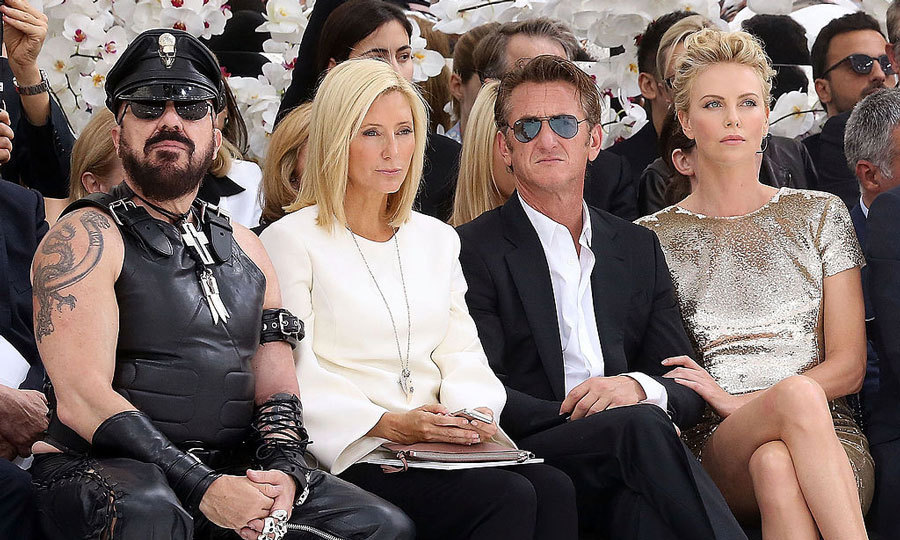 Royalty and Hollywood collided at the Christian Dior Haute Couture Fall/Winter 2014-2015 show during PFW. Princess Marie-Chantal of Greece was sandwiched between architect Peter Marino (left) and actor Sean Penn (right), who was accompanied by his then-girlfriend Charlize Theron at the Muse Rodin.