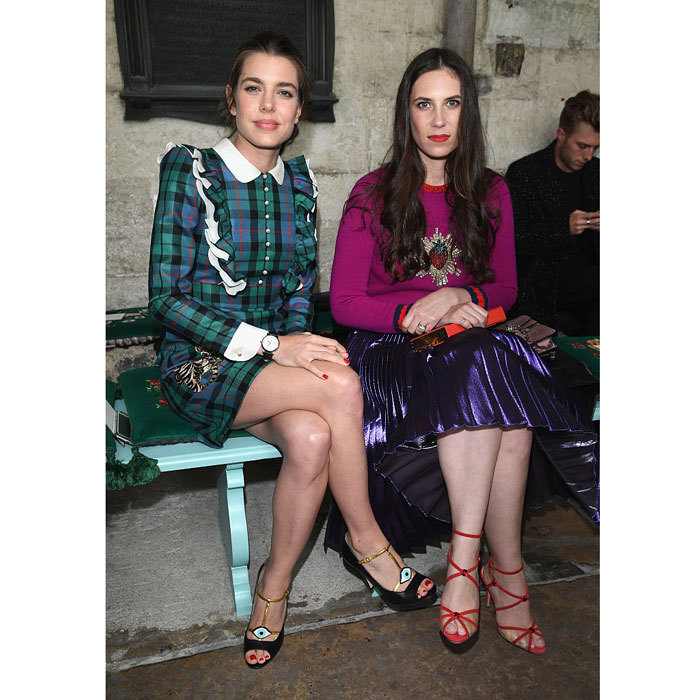 Sisters-in-law Charlotte Casiraghi and Tatiana Casiraghi had a girls' day out attending the Gucci Cruise 2017 fashion show held at the Cloisters of Westminster Abbey.
