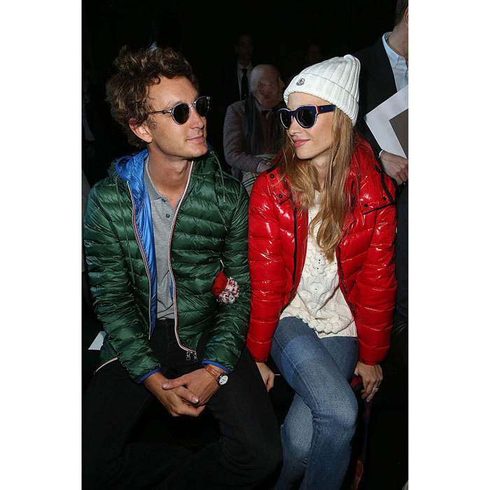 Nothing shady here! Pierre Casiraghi and his then-fianceé Beatrice Borromeo looked cool in shades at the Moncler Gamme Rouge during Paris Fashion Week Womenswear Fall/Winter 2015/2016.