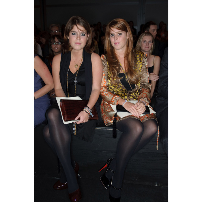 Princesses Eugenie and Beatrice of York enjoyed a stylish sister outing to the 2008 ISSA fashion show held at London's Natural History Museum.