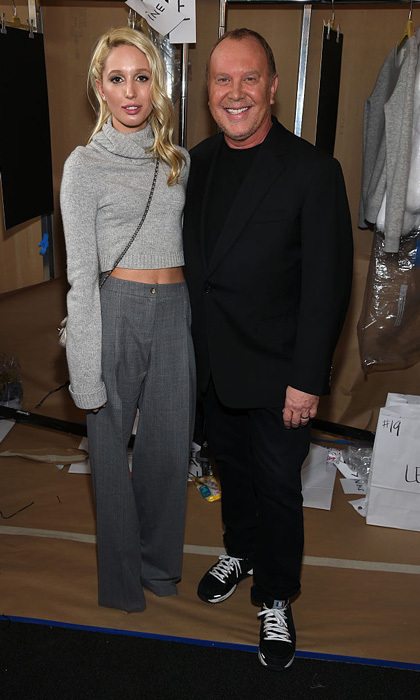 Princess Olympia was fifty shades of grey and chic as she joined designer Michael Kors backstage at his fall 2016 runway show during New York Fashion Week.