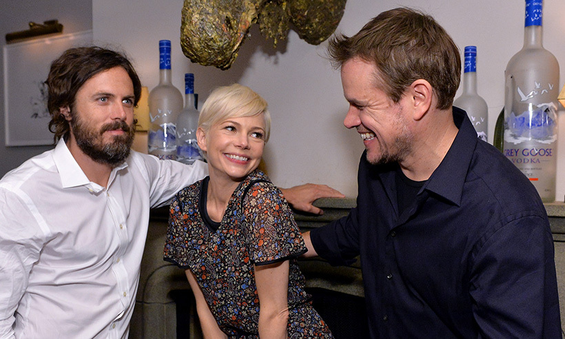 Casey Afflec, Michelle Williams and Matt Damon