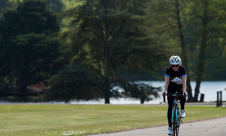 The Countess of Wessex will pedal from Scotland to London in just seven days.