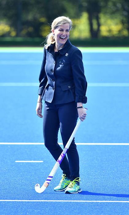 The sporty Countess has trained hard since February.