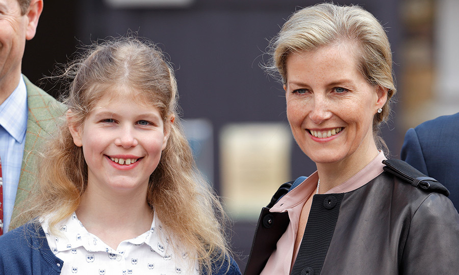 The mom-of-two with her daughter Lady Louise Windsor.