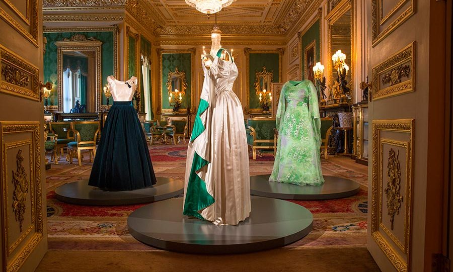 The Queen\'s stunning evening gowns going on display at Windsor Castle
