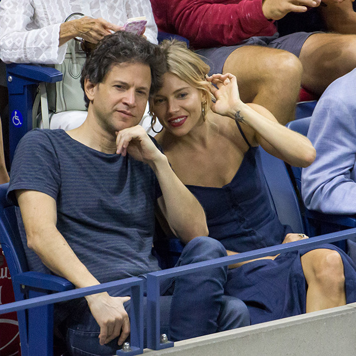 Sienna Miller and Bennett Miller were spotted at the US Open.