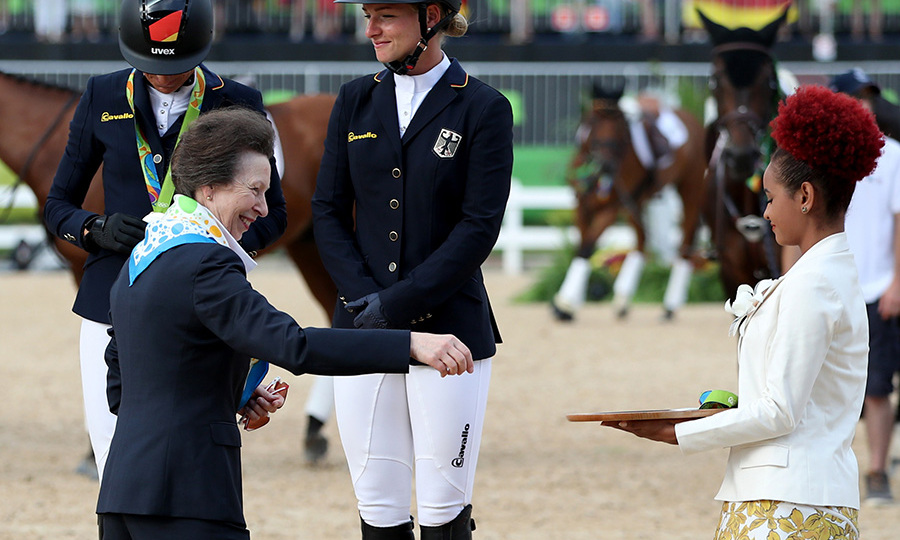 The Queen's daughter recently returned from the Rio Olympics.