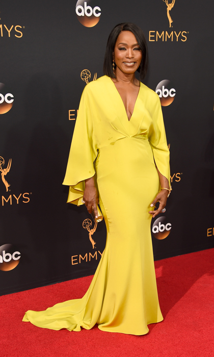 Angela Bassett in Christian Siriano. 