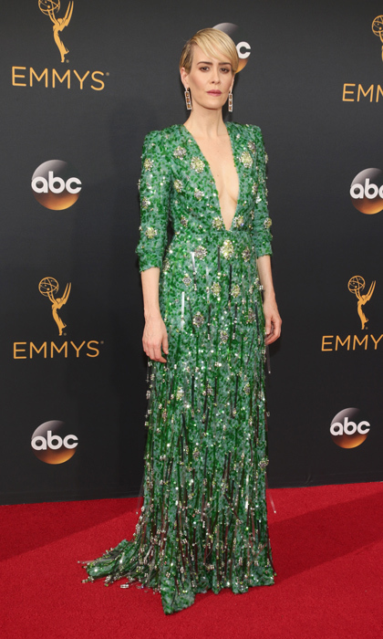 Sarah Paulson in Prada. 