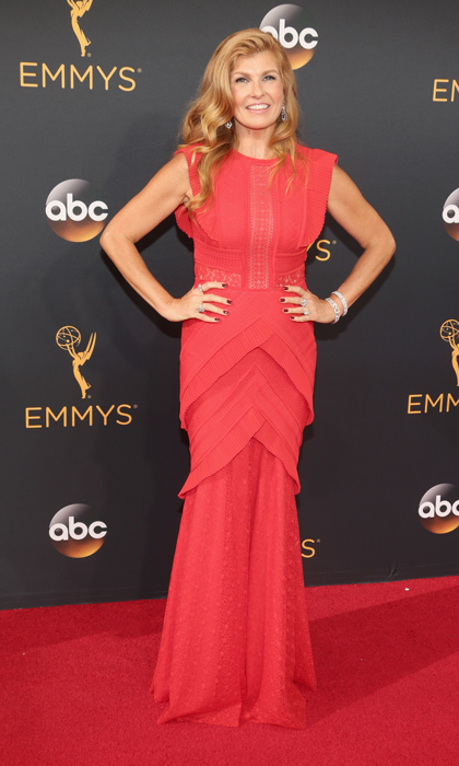 Connie Britton in Talbot Runhof. 