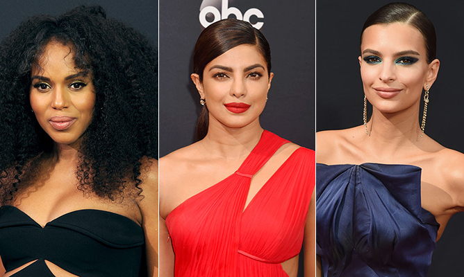 While the style on the red carpet was as show-stopping as ever, we were also taken by the variety of beauty looks that caught our eye at the 2016 Emmy Awards. From bright-red lips to metallic-teal shadow and a perfectly bronzed glow, our favourite TV A-listers opted for a mix of bold and demure beauty elements topped off with everything from voluminous curls to sleek updos. Beauty won big at the awards show - click through to see our favourite looks...